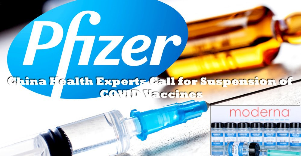 China Calls to Suspend Pfizer and Moderna Vaccines
